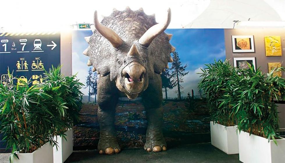 Un triceratops de tamaño natural gracias a la impresión 3D